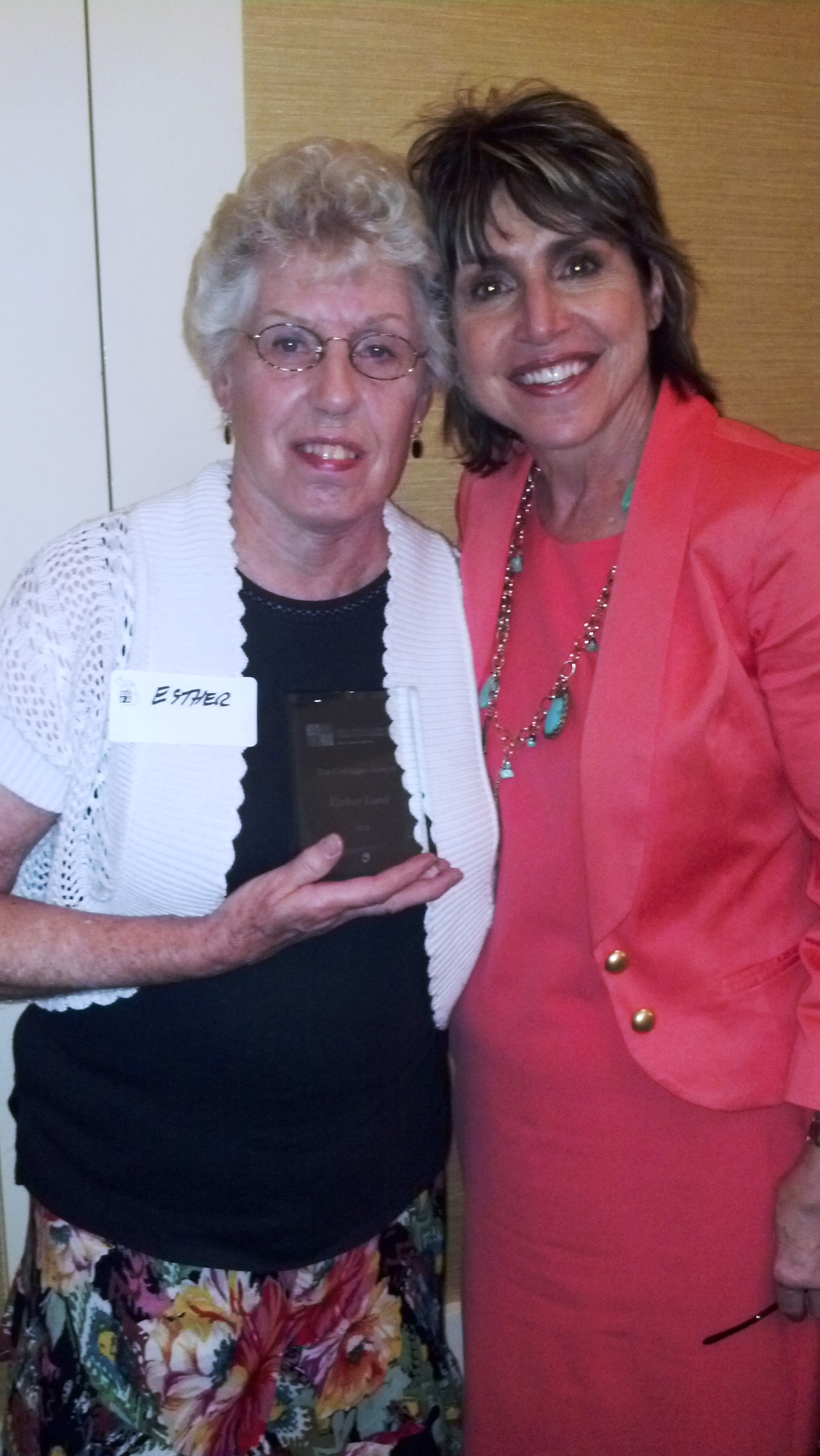 2013 Coraggio Award Winner Esther Land