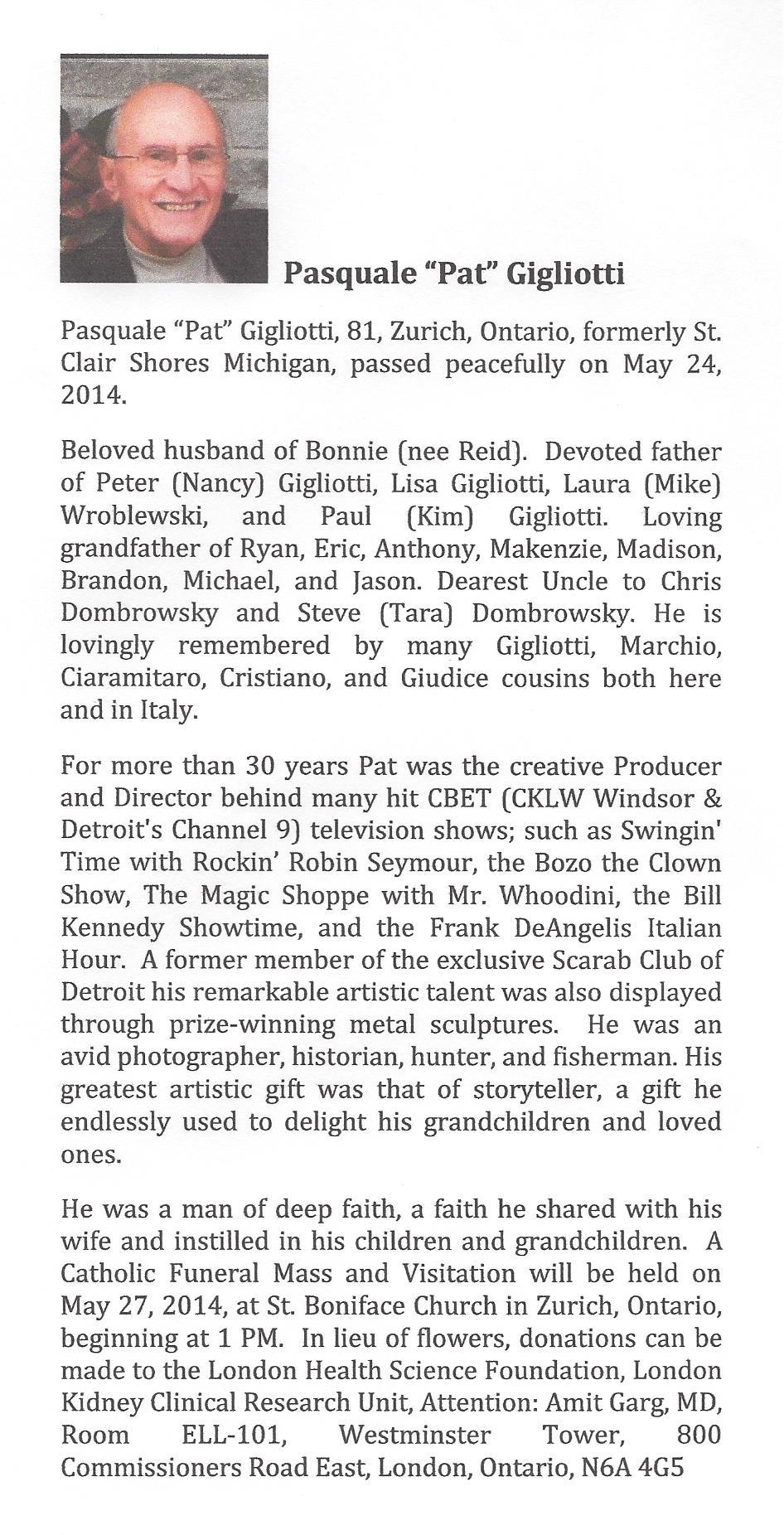 Gigliotti Obituary